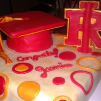 Rock Island Graduation Cake Butterscotch walnut