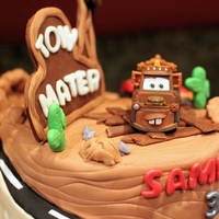 Cars 1 And Cars 2 Mash-Up Cake