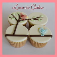 Love Birds Valentine's Day Cupcakes   Love Birds Valentine's day cupcakes