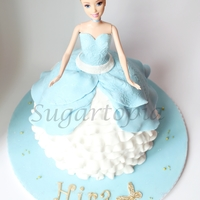Cinderella Doll Cake   Cinderella Princess Doll cake for a little princess turning 5!