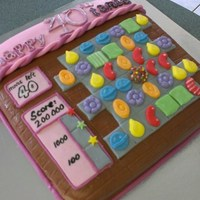 Candy Crush Cake Choc Mud All Fondant Accents Candy crush cake. Choc mud ,all fondant accents