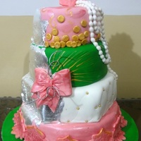 Wedding Cakes   Abstract wedding cake to match brides dress and color scheme.