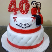 40Th Anniversary Themed Cake   40th anniversary themed cake.