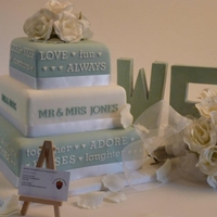 Our Story Wedding Cake