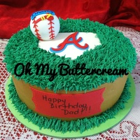 "10 French Vanilla Cake With Strawberry Filling And Covered In Vanilla Buttercream Rct Baseball And Fondant Accents 10"" French vanilla cake with strawberry filling and covered in vanilla buttercream. RCT baseball and fondant accents."