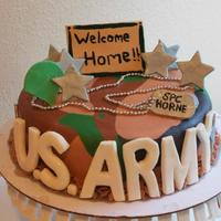 Welcome Home Cake For A Soldier Coming Home From Deployment Welcome home cake for a soldier coming home from deployment!
