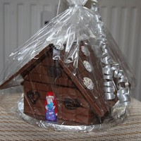 "Chocolate House ""villa Milka"" This little house was built from small chocolate boards, not from gingerbread. It was a small last-minute-present."