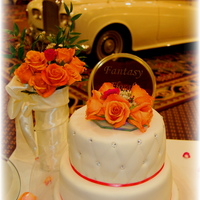 Peach And Coral Wedding Cake