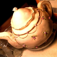 Teapot This was a birthday cake for a best friend of mine who loves tea. I've always wanted to try a teapot !