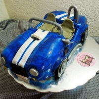 Shelby Cobra Blue Shelby Cobra. This cake was our third attempt to make a cake shaped 3d car. We still have errors which we learned a lot. 1) You need a...