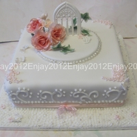 Christening Cake I was asked to make a girls Christening cake for a Catholic christening, they were older children and wanted a princessy but traditional...