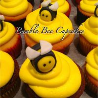 Bumble Bee Cupcakes Bumble Bee cupcakes with fondant Bee's and Vanilla buttercream.