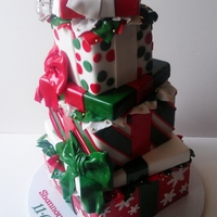 Christmas Inspired Engagement Cake