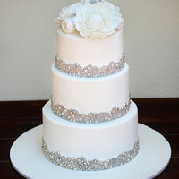 My Fourth Wedding Cake And One I Thoroughly Enjoyed Making The Bride Had Seen A Photo Of A Cake And Fallen In Love So I Cant Take Credit F... My fourth wedding cake and one I thoroughly enjoyed making. The bride had seen a photo of a cake and fallen in love so I can't take...