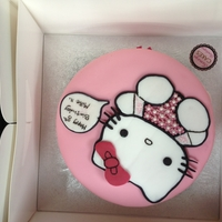 Hello Kitty my hand made hello kitty cake