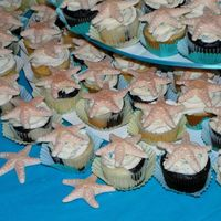 Starfish Wedding Cupcakes