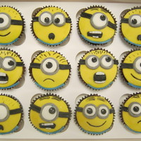 Despicable Me Minions Despicable Me Minions for my daughters class cake sale! Double choc