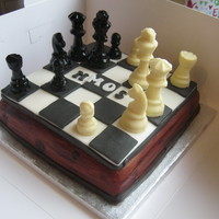 Chess Cake Chess Cake for the Hinchley Manor Operatic Society performing 'Chess' this week. Chocolate cake with a chocolate/caramel filling...