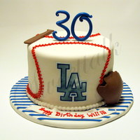 La Dodgers Baseball Cake . Los Angeles, Dodgers Baseball cake for a surprise birthday party. With love from a sister to her brother !!!