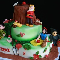 Snow White Fondant Cake All Edible Snow white fondant cake ,all edible.