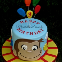 Cute And Simple Curious George Birthday Cake   Cute and simple Curious George birthday cake :)