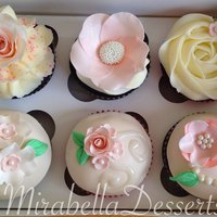Wedding Cupcakes In Ivory And Pale Pink Tones Wedding cupcakes in ivory and pale pink tones