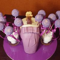 Girly Glamour Purple Cake