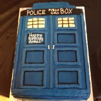 Tardis Cake A friend wanted a TARDIS cake for her niece, who loves Dr. Who.