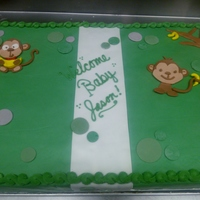 Monkey Baby Shower Cake Monkey themed Baby Shower cake based off of the invitation