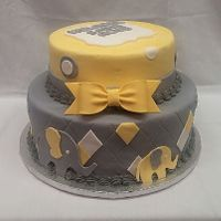 Grey And Yellow Elephant Cake Grey and Yellow Elephant Cake