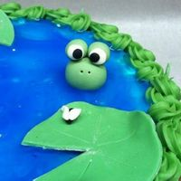 Pond Themed Baby Shower Cake