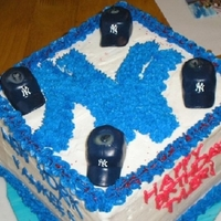 Ny Yankees My first attempt at making my son a NY Yankees birthday cake.