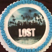 Lost Cake A friend of mine had a series final party for the show Lost and I made this cake for him.