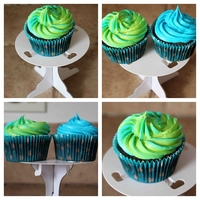 Swirl Frosting Cupcakes Made these for my little cousins birthday dinner!