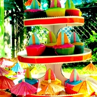 Luau/tiki Inspired Surfboard Cupcake Display My sons kindergarten graduation party cupcake display. Luau/Tiki Theme.