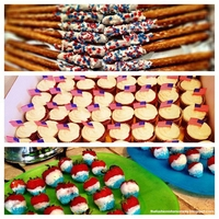 Red, White And Blue Just some cute red velvets for a red, white and blue themed party.