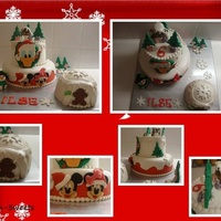 Birthday Cake In Disney Christmas Theme The cake was made for a six year old girl. Her birthday is on christmasday. How special. She wanted a disney christmas cake. Her wish is my...