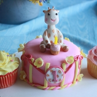 Giraffe 1St Birthday Smash Cake A customer asked for this for her Daughter's 1 st birthday and gave me a picture of someone else's cake to go by. I tried to make...