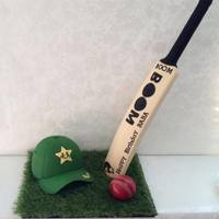 Standup Bat / Cricket Theme Cake *