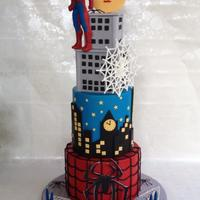 Spiderman Cake Say hello to Mr spidy..design inspiration by SWEET PICASSO CAKES.
