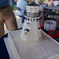 Lighthouse Birthday Cake For My Uncle Ray That Turned 90 He Built A Lighthouse On His Property And This Was Modeled After It The Lightho Lighthouse birthday cake for my Uncle Ray that turned 90. He built a lighthouse on his property and this was modeled after it. The...