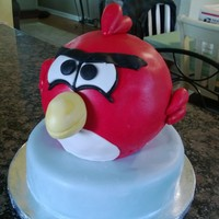 Angry Bird Cake For My Grandsons Birthday Tomorrow I Didnt Get To Finish The Details Green Piggies And Such As I Was Leaving To Go Out  Angry Bird cake for my grandsons birthday tomorrow. I didn't get to finish the details (green piggies and such) as I was leaving to go...