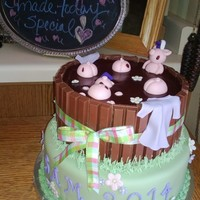 My Nieces College Graduation She Has Been Wanting Pigs In The Mud For Awhile Now So I Added A Few Caps And Gowns The Top Cake Is Deep Cho My nieces college graduation, she has been wanting Pigs in the Mud for awhile now so I added a few caps and gowns. The top cake is deep...