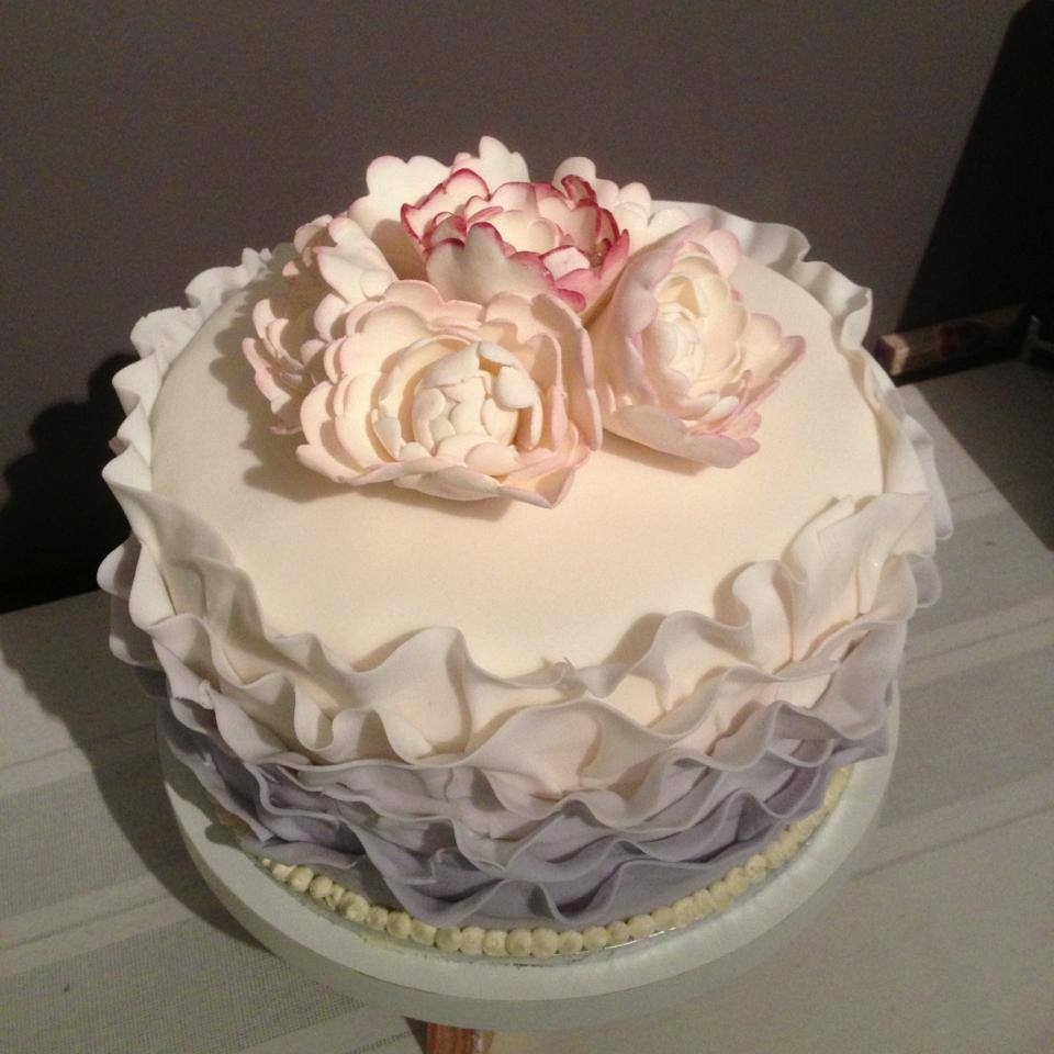 Made This The Other Day For A Leaving Cake Just Did It As A Trial Cake Never Made These Flowers Or Ruffles Before So It Was Nice To Be *made this the other day for a leaving cake. just did it as a trial cake. Never made these flowers or ruffles before. .so it was nice to be...