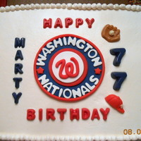 Nats Fan Celebrates 77Th Birthday Nats fan celebrates 77th birthday.
