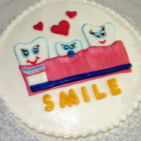 The Family That Brushes Together Smiles Together Cake Done For The Staff At My Dentists Office The family that brushes together smiles together. Cake done for the staff at my dentist's office.