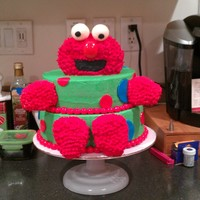 Elmo Cake For A 2 Year Olds Birthday Elmo cake for a 2 year olds birthday