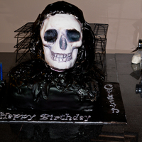 The Grim Reaper 8 Year Old Birthday Cake The Childs Birthday Also Happens To Be Halloween The Skull Is A Full 10 Cup Chocolate Cake To The Grim Reaper 8 year old birthday cake. The child`s birthday also happens to be Halloween. The skull is a full 10 cup chocolate cake,...