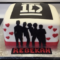 Fondant Covered 1 Direction Cake Fondant covered 1 Direction Cake.
