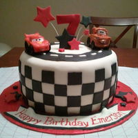 Cars Themed Fondant Cake Cars themed fondant cake